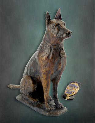 Police Dog Sculptures